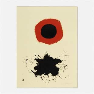 Adolph Gottlieb, Red Halo - White Ground