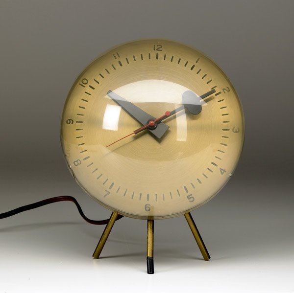 400: GEORGE NELSON / HOWARD MILLER Brass Desk Clock