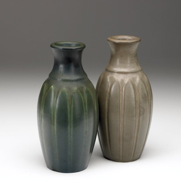 1034A: HAMPSHIRE Pair of bottle-shaped vases