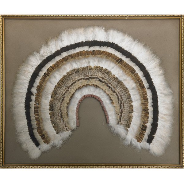 6: RARE  WOMAN'S FEATHER CAPE, GREAT LAKES