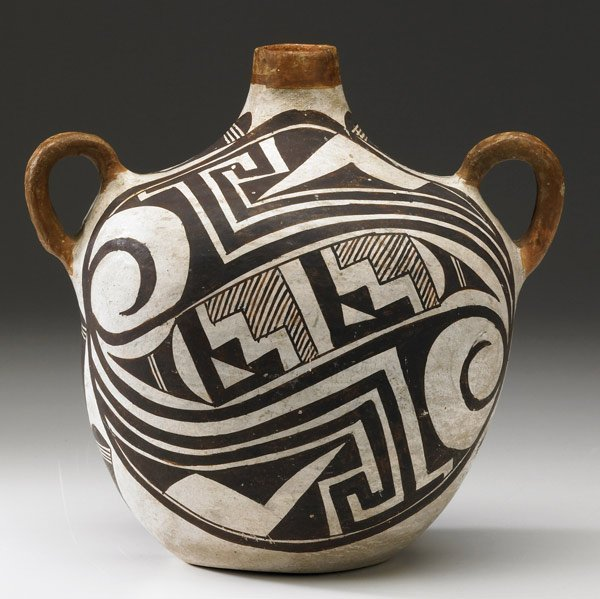 16: ACOMA CANTEEN-STYLE VESSEL, NEW MEXICO