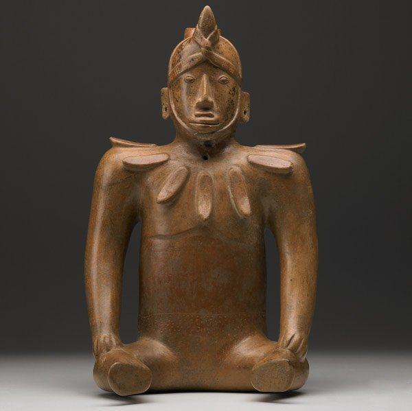 372: MONUMENTAL COLIMA SHAMAN FIGURAL VESSEL, MEXICO