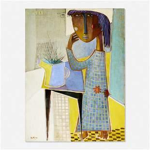 Ángel Botello, Girl with Vase