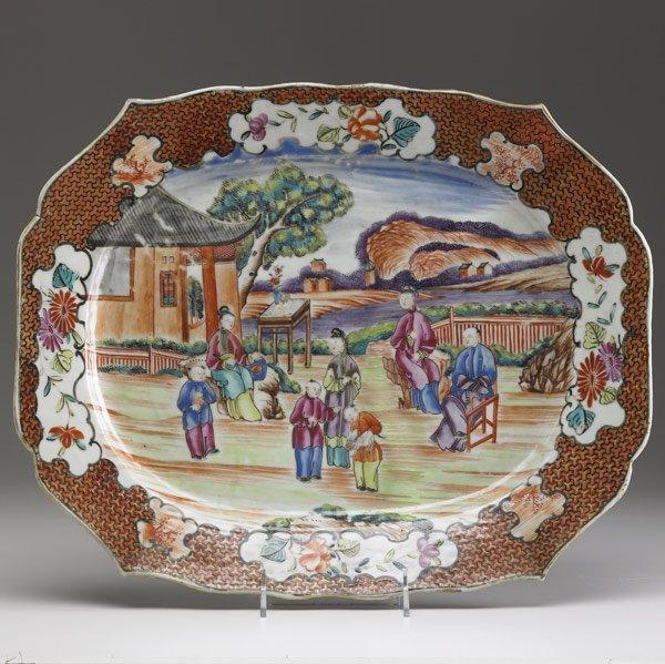 11: CHINESE EXPORT Rectangular serving platter