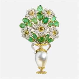 Buccellati, Gem-set brooch