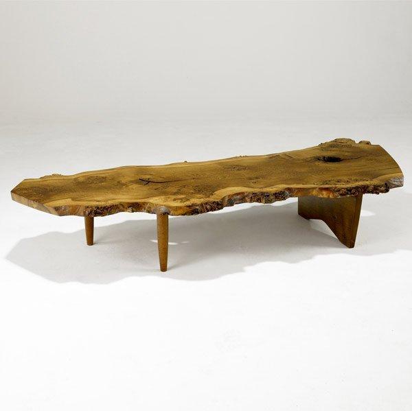 1: GEORGE NAKASHIMA English Oak Burl Coffee Table