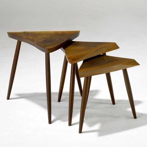 3: GEORGE NAKASHIMA Walnut Nesting Tables