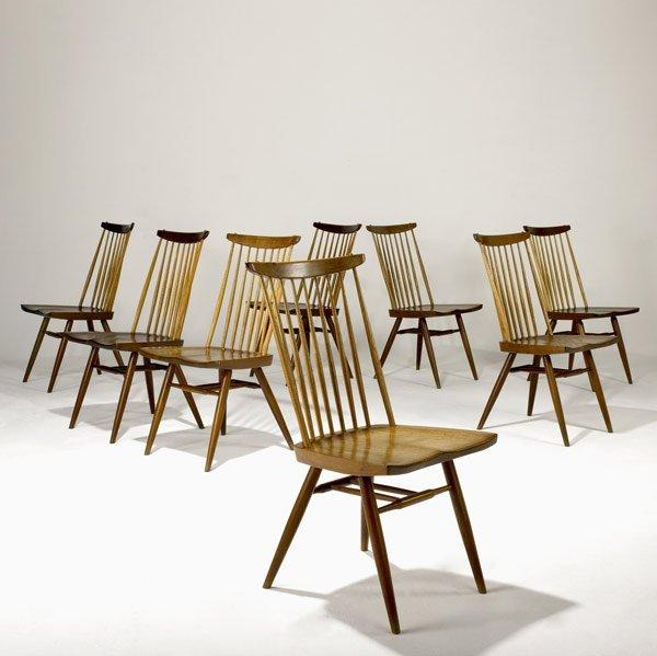 4: GEORGE NAKASHIMA Eight Walnut New Chairs