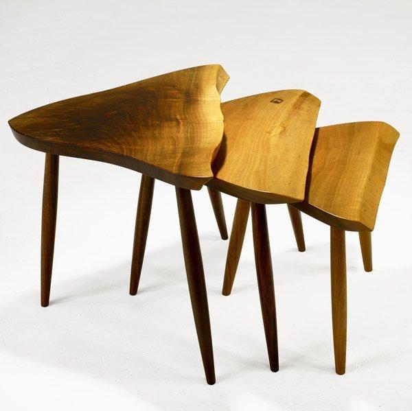 12: GEORGE NAKASHIMA Set of Walnut Nesting Tables