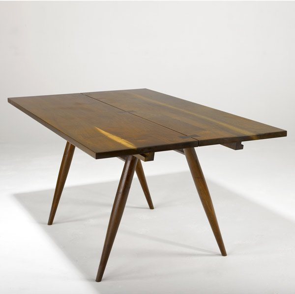 15: GEORGE NAKASHIMA Walnut Turned Leg Dining Table