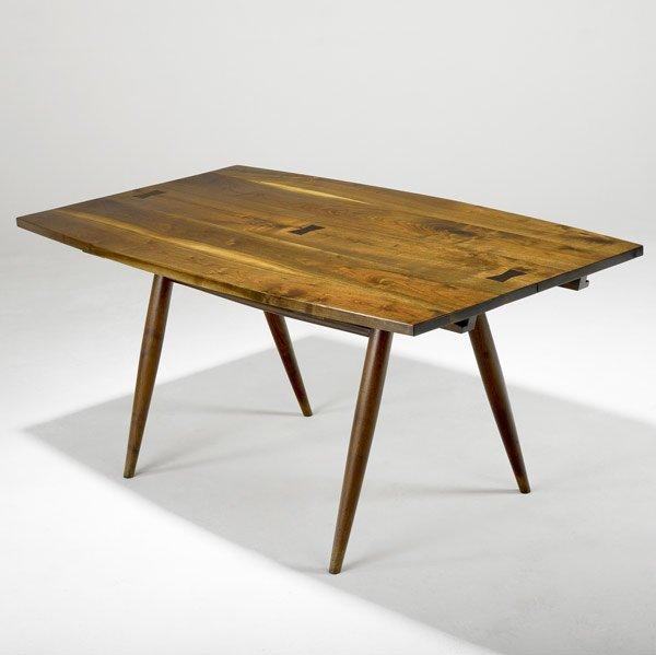 17: GEORGE NAKASHIMA Walnut Turned Leg Dining Table