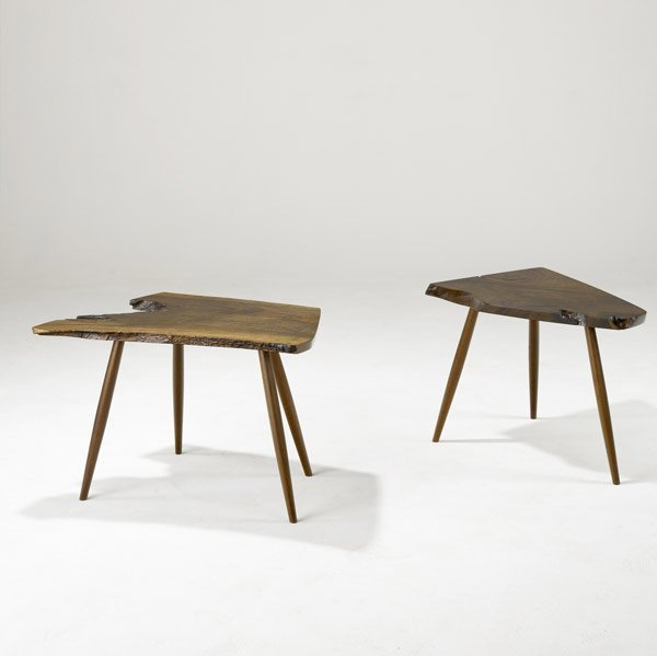 21: GEORGE NAKASHIMA Pair of Side Tables