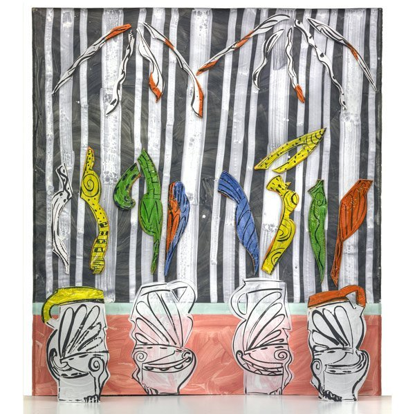 267: BETTY WOODMAN Sculpture, ''Reflective Vases''