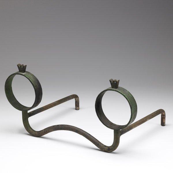 604: ITALIAN Cast iron andirons
