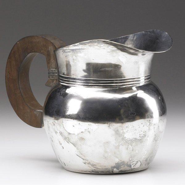 606: WILLIAM SPRATLING Sterling silver pitcher
