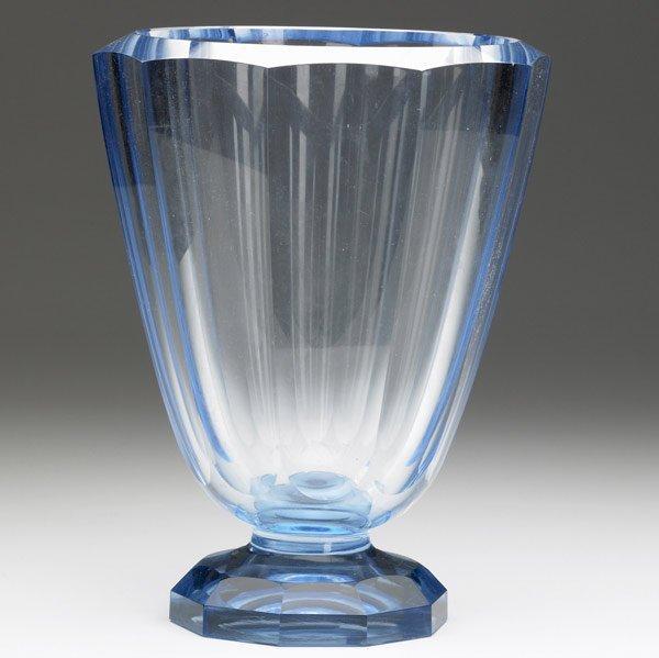 610: JOSEF HOFFMANN (Attr.) Faceted blue glass vase
