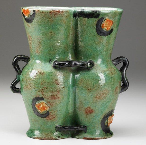 611: KITTY RIX / WIENER WERKSTATTE Glazed ceramic vase