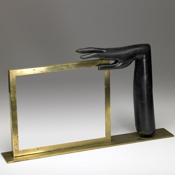 618: FRANZ HAGENAUER Brass mirror stand