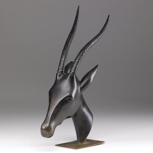 621: FRANZ HAGENAUER Sculpture of an ibex