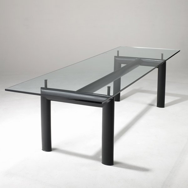 944: LE CORBUSIER / CASSINA Glass-top dining table
