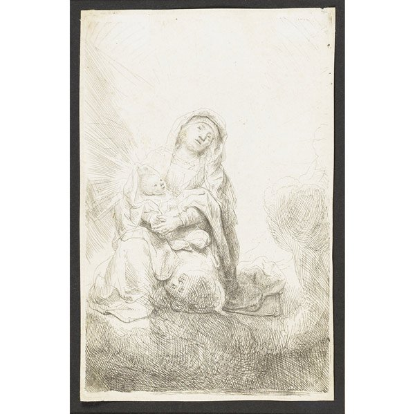 22: Rembrandt van Rijn (Dutch, 1606-1669) The Virgin an