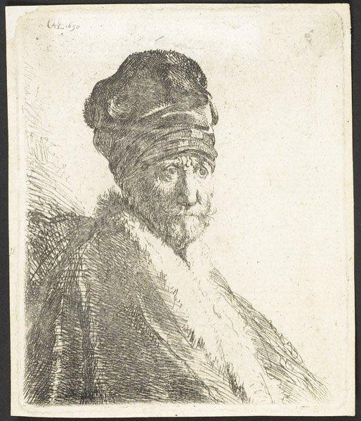 24: Rembrandt van Rijn (Dutch, 1606-1669) Bust of a Man