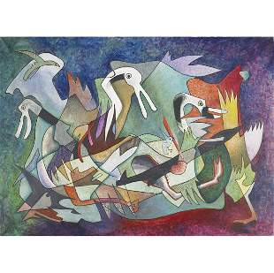 97: Rolph Scarlett (Canadian/American, 1889-1984) Birds