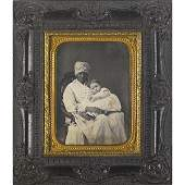 174: Portrait of an African American nanny and child; Q