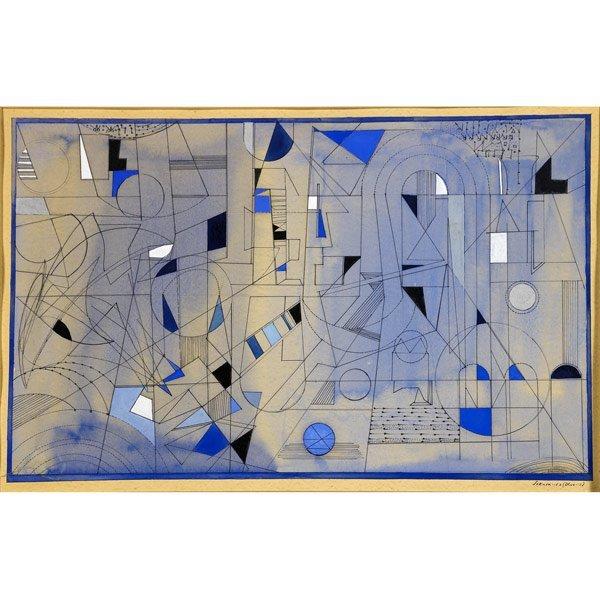1000: Sonia Sekula (American, 1918-1963) Blue-S, 1953;
