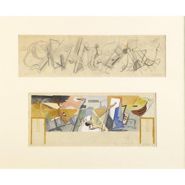 1010: Louis Schanker (American, 1903-1981) Study for Mu
