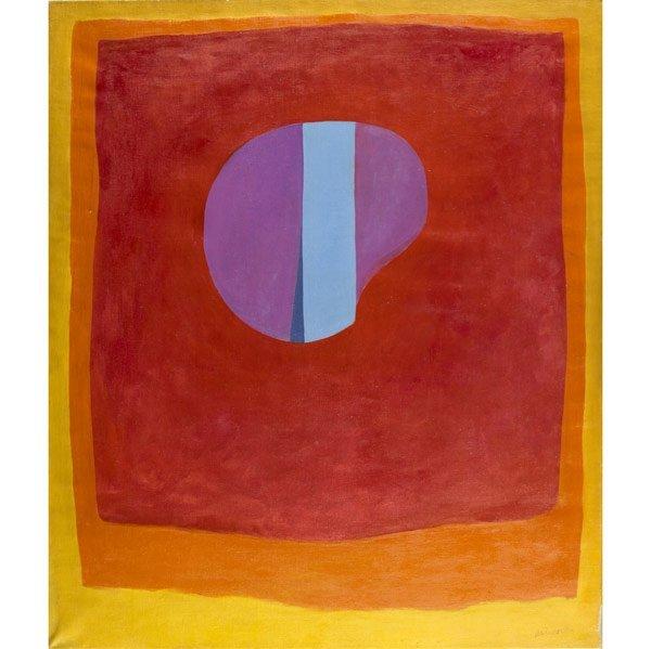 1013: Rex Ashlock (American, 1918-1999) Untitled Purple