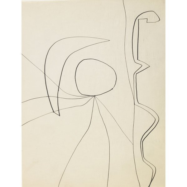 1017: William Baziotes (American, 1912-1963) Two works