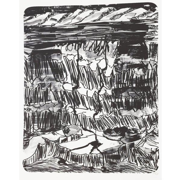 1252: Per Kirkeby (Danish, b. 1938) Untitled, 2004; Lit