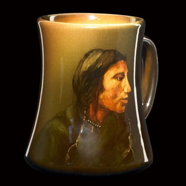 2: ROOKWOOD Standard glaze Indian mug by Baker