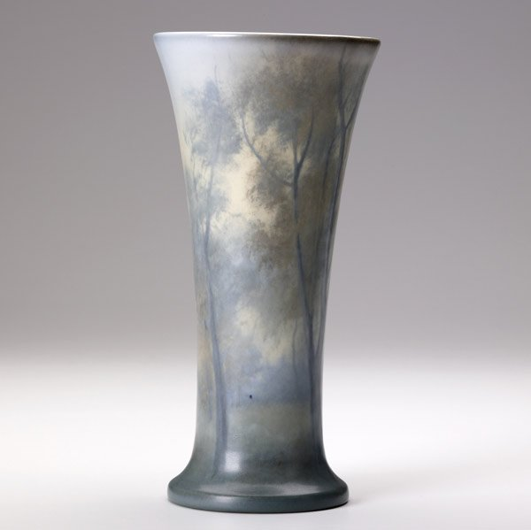 22: ROOKWOOD Scenic Vellum vase by Ed Diers