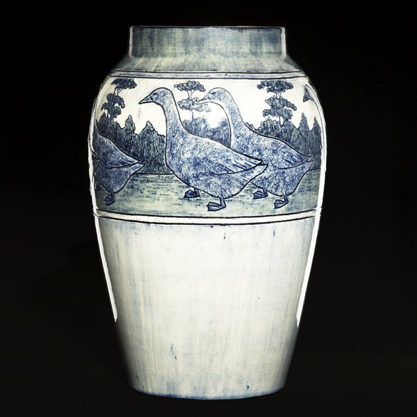 98: NEWCOMB COLLEGE Exceptional vase by M. Delavigne