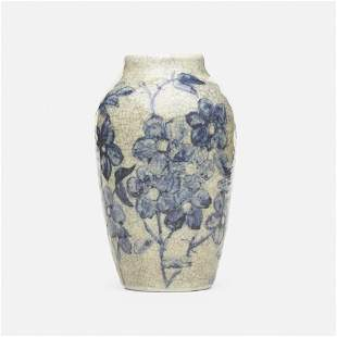 Hugh C. Robertson for Dedham Pottery, Vase with flowers