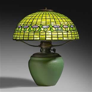 Tiffany Studios and Rookwood Pottery, Mushroom lamp