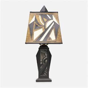 Waylande Gregory for Cowan Pottery, Rare Morning lamp