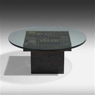 Paul Evans, Rare Sculpted coffee table