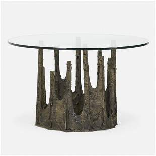 Paul Evans, Sculpted Bronze dining table