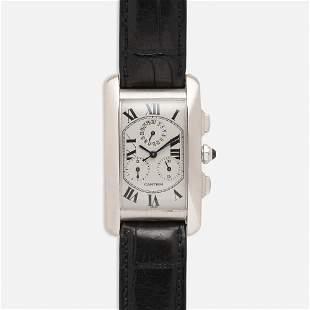 Cartier, 'Tank Americaine' chronograph watch, Ref. 2312