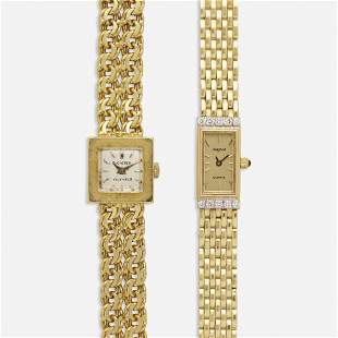Bucherer and Avignon, Two gold wristwatches