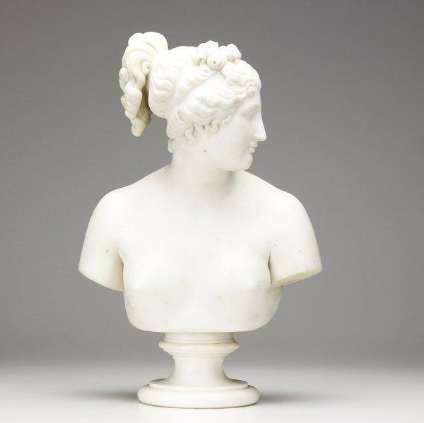 2: ITALIAN MARBLE Female bust on pedestal