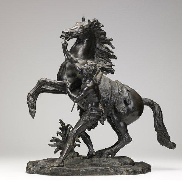 5: MARLY HORSE BRONZE Patinated bronze sculpture