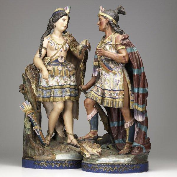8: CONTINENTAL BISQUE Native American figurines
