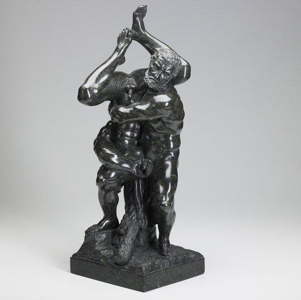 11: MARBLE SCULPTURE 'Hercules and Antaeus'