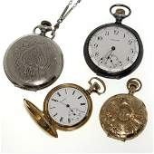 1383: FOUR AMERICAN POCKETWATCHES