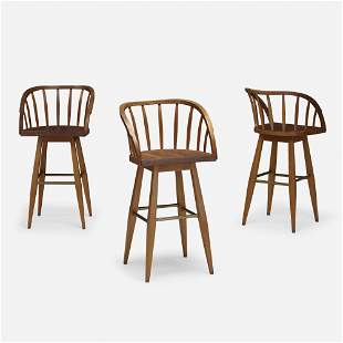 Edward Wormley, Barstools model 5641, set of three