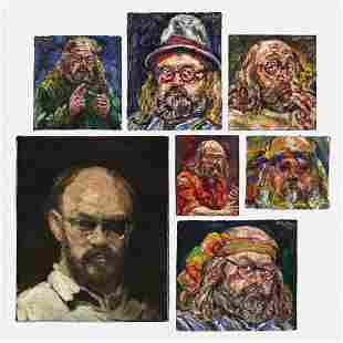 Philip Sherrod, Self-Portraits (seven works)
